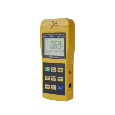 TENMARS TM-192D - магнитометр для измерения параметров низкочастотных электромагнитных полей в диапазоне 30 до 2000 Гц. * Предназначен для измерения параметров низкочастотных электромагнитных полей в диапазоне 30 до 2000 Гц. * Магнитометр трехосный TENMA